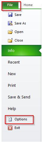 Enabling Excel Fill Handle Tool