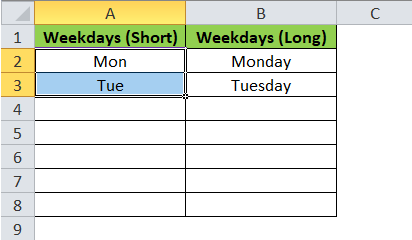 WeekDays Selection