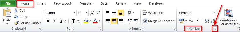 Format Cells Dialogbox Launcher Excel