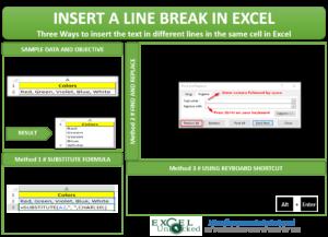 Insert a Line Break in Excel