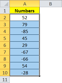 Number Selection Excel