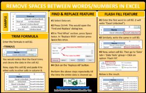 Remove Spaces Between Words in Excel