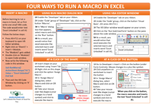 Four Ways to Run A Macro in Excel