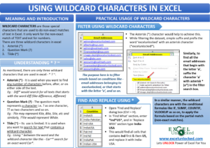 Using Wildcard Characters in Excel