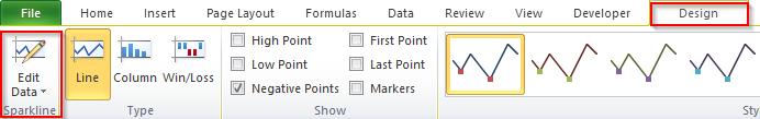 Edit Sparklines Navigation