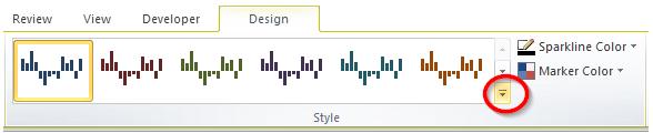More Sparkline Design Button