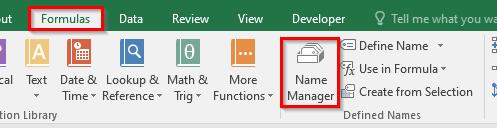 Name Manager Navigation