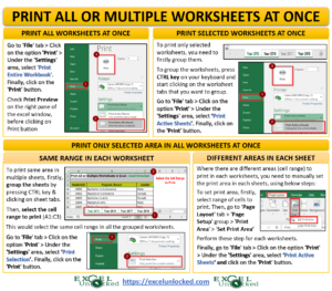 Print All or Multiple Worksheets in Excel