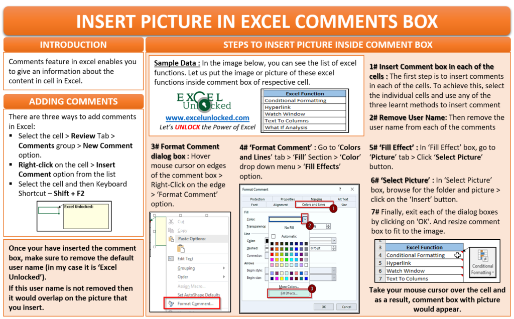 Insert Picture in Excel Comments