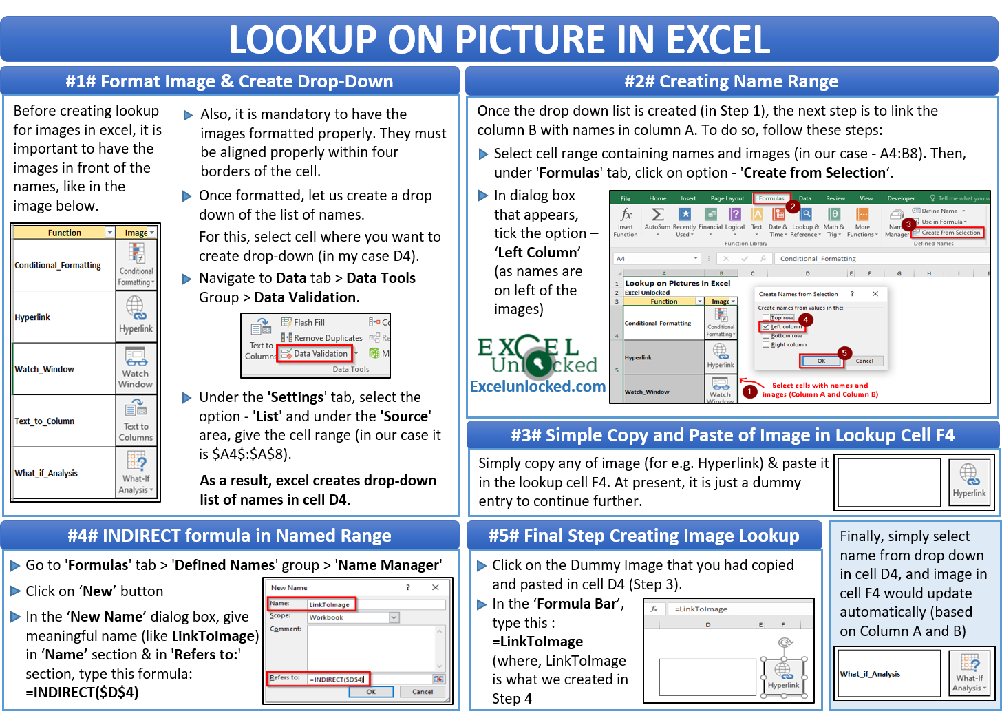 Lookup on Picture in Excel