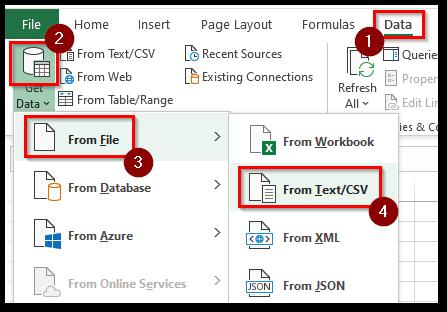 Get Data from CSV File Navigation