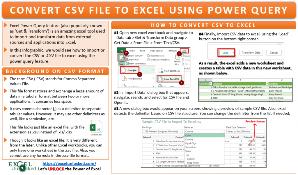 How to Convert CSV File to Excel Using Power Query