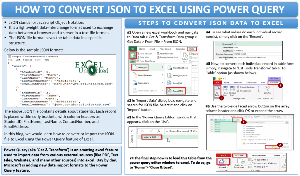 How to Convert JSON to Excel Using Power Query