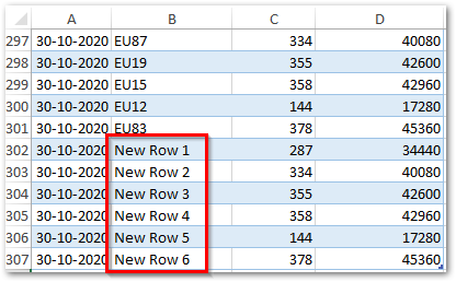 New Rows Added to Source Excel File