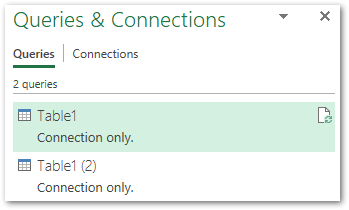 Power Query Connections for Oct Nov