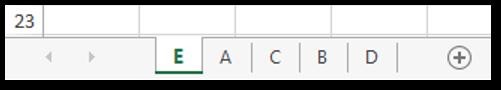 Arrange Worksheets in Ascending Order Sample