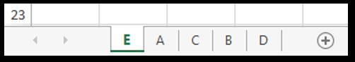 Arrange Worksheets in Descending Order Sample