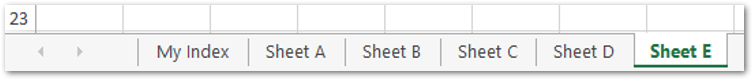 Create Sheets from Excel list Result