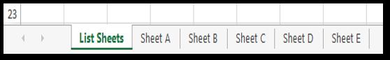 Delete Worksheets based on List Sample #2