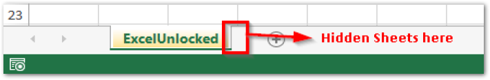 Hidden Sheets in Excel