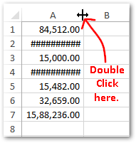 How to Resolve #### Error in Excel Cell
