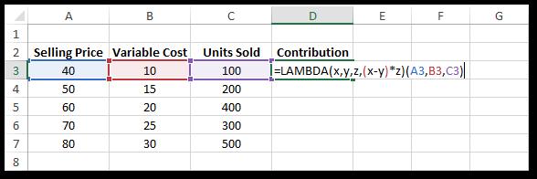 LAMBDA Formula in Excel #2