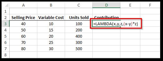 LAMBDA Formula in Excel