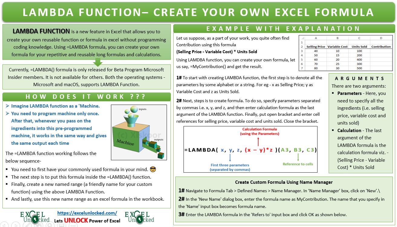LAMBDA Function in Excel
