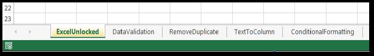 Multiple Worksheets in Workbook Excel