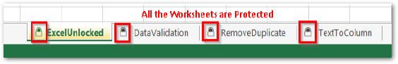 Protected Worksheets in Excel