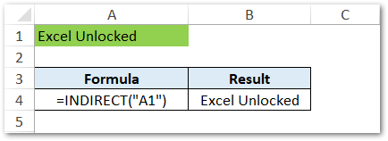Get Cell Value using Cell Reference INDIRECT