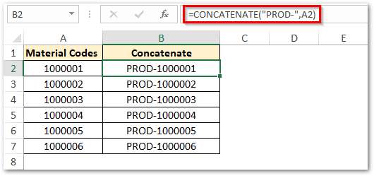 CONCATENATE Text and Cell value in Excel