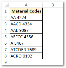 Material Codes with Different Batch Length