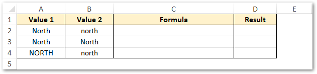 Non-Case-Sensitive Match of Values EXACT Excel Function