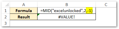 Num_Chars Value Less than 0 - MID Function