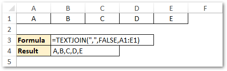 TEXTJOIN Formula with Delimiter as Comma