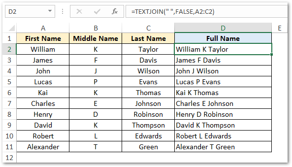 TEXTJOIN Function in Excel - ExampleTEXTJOIN Function in Excel - Example