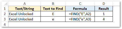 Using FIND Function in Excel with Examples