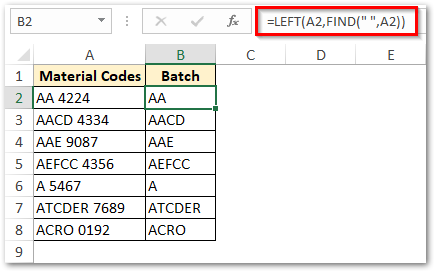 Using LEFT function with FIND function