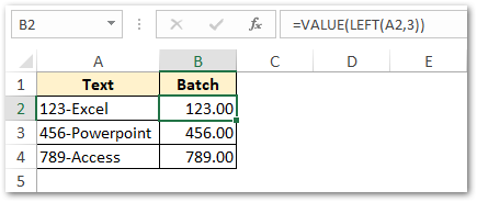 Using LEFT function with VALUE function