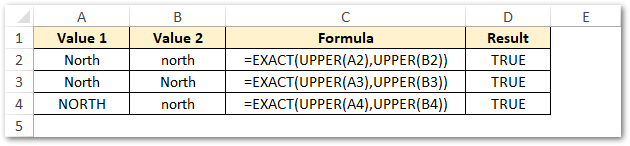Using UPPER and LOWER function Non-Case-Sensitive match