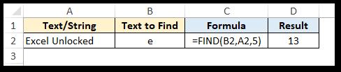 Using start_num in FIND function
