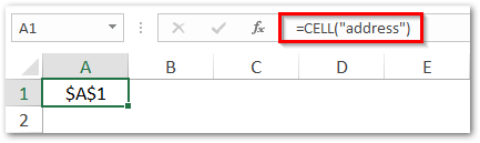 Get Address of Cell in Excel