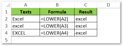 LOWER Function in Excel