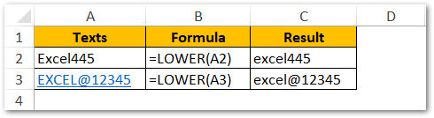 Numbers and Symbols in LOWER Function