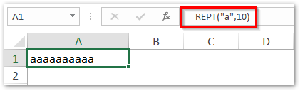 Repeat text in cell multiple times Excel
