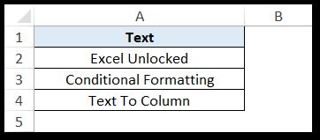 Sample Data - UPPER Function Excel