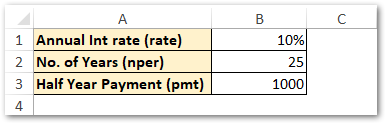 Compounding Semi-Annually PV Excel