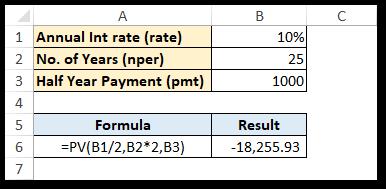 Present Value Compounding Semi Annually