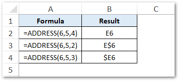 Using abs_num argument ADDRESS function
